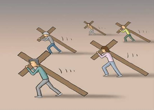carrying crosses