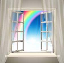 rainbow open window